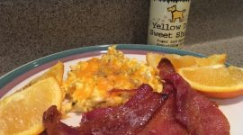 Bacon with Yellow Dog Sweet Shake for a Holiday Twist